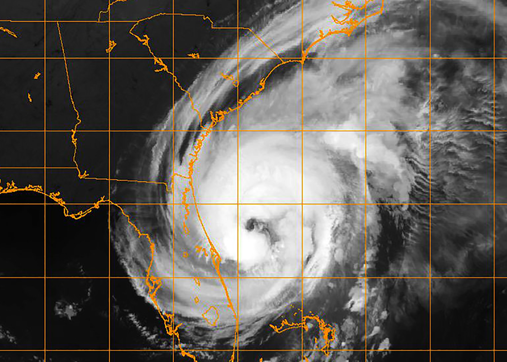 Hurricane Dorian, which at its strongest was a Category 5 hurricane, dropped to a Category 3 storm as it brushed the South Carolina coast, with the eye about 50 miles from Charleston. The storm pelted the Lowcountry with more than 10 inches of rain and delivered wind gusts approaching 100 mph causing flooding and power outages. (U.S. Navy photo via Naval Research Laboratory)